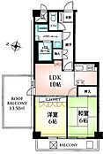 2LDK 平成24年全居室クロス、畳表、カーペット張替え済