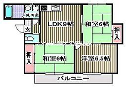 パークサイド伊島[2階]の間取り
