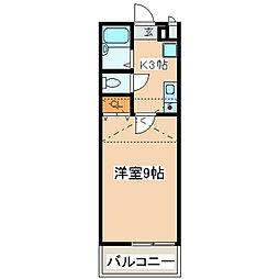 神奈川県座間市さがみ野1丁目の賃貸アパートの間取り