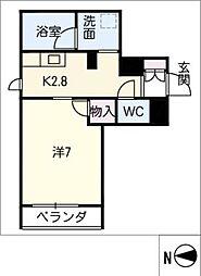 SERDINA KOSAKURA 2階1Kの間取り