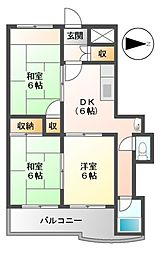 メゾンカトウII[4階]の間取り