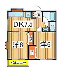 コーポラスNo.11[2階]の間取り