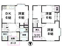 [一戸建] 石川県金沢市入江3丁目 の賃貸【/】の間取り