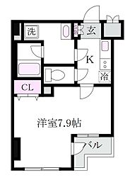 東京都杉並区松庵2丁目の賃貸マンションの間取り