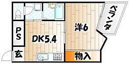 プリモレガーロ香春口[3階]の間取り
