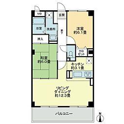 徳島県板野郡藍住町笠木字中野の賃貸アパートの間取り