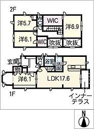 [一戸建] 愛知県名古屋市北区柳原1丁目 の賃貸【/】の間取り