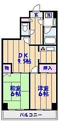 アビタシオン薮崎[5階]の間取り