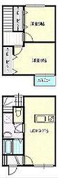 [テラスハウス] 静岡県浜松市中区下池川町 の賃貸【/】の間取り