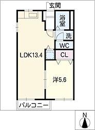 フレグランス栄A棟[2階]の間取り