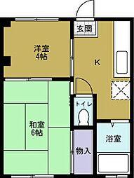 マンション大青[2階]の間取り
