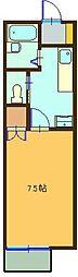 ルミナス祇園III[205号室]の間取り