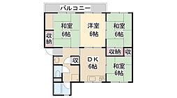 清和台公社4号棟[204号室]の間取り