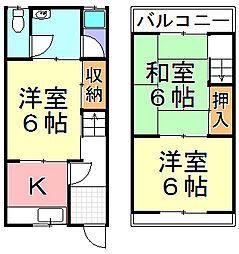 [タウンハウス] 大阪府大阪市西成区千本北1丁目 の賃貸【/】の間取り