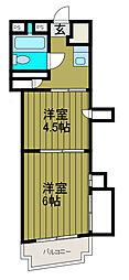 水上商事ビル小田急相模原[4階]の間取り