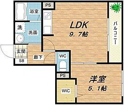 AGIO空堀[4階]の間取り