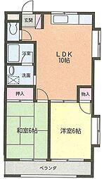 小池コーポ[1階]の間取り