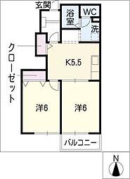 ローレル落合I[1階]の間取り