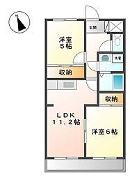 タカネコーボー[2階]の間取り