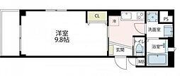 東急東横線 新丸子駅 徒歩4分の賃貸マンション 1階1Kの間取り