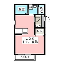 YSクリスタル[2階]の間取り