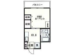ピア新高円寺[2階]の間取り