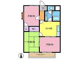 第1グレースマンション[306号室]の間取り