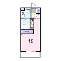 埼玉県草加市中央2丁目の賃貸マンションの間取り
