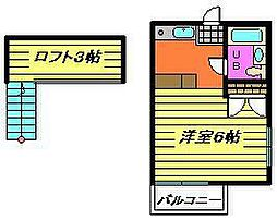 カーサ佐倉[1階]の間取り