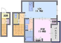 シャーメゾン川原城[2階]の間取り