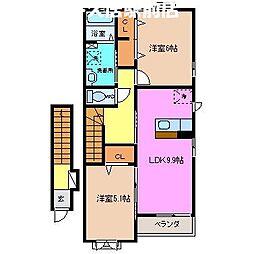 ラフレシール高茶屋[2階]の間取り