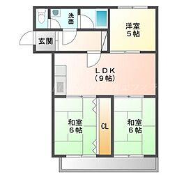 北海道札幌市東区北三十五条東8丁目の賃貸マンションの間取り