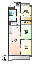 マンションカメール[4階]の間取り