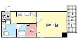 アレンダール神戸本山[5階]の間取り