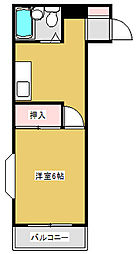 河井ビル[307号室]の間取り