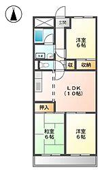 フローラルハイツ澤田[3階]の間取り