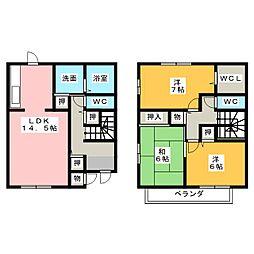 サニーハイツまりえ館A[1階]の間取り