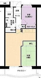 URアーバンラフレ小幡4号棟[6階]の間取り