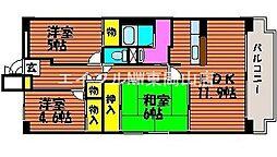 岡山県岡山市中区さい丁目なしの賃貸マンションの間取り
