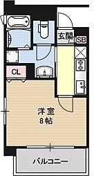 ベラジオ京都烏丸十条[702号室号室]の間取り