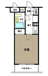 ヴァンハウス横須賀中央[2F号室]の間取り