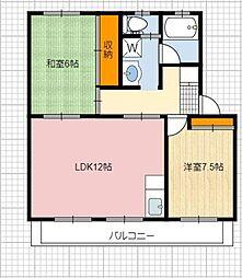静岡県静岡市葵区大岩2丁目の賃貸マンションの間取り