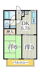 カーサオランジェ[2階]の間取り