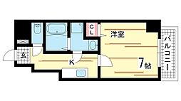 兵庫県神戸市須磨区衣掛町4丁目の賃貸マンションの間取り