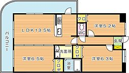 オロマーレ浅川[7階]の間取り