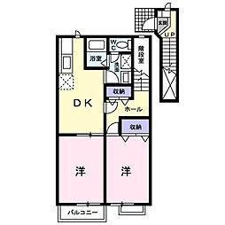 メープルリーフI[2階]の間取り