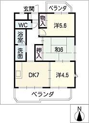 CREST1[6階]の間取り