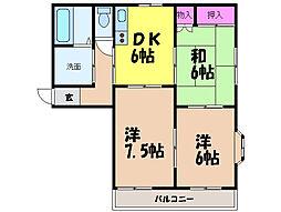 愛媛県松山市高岡町の賃貸マンションの間取り