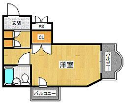 プチグレイス5番館[4階]の間取り