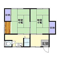 イトウアパート[201号室]の間取り